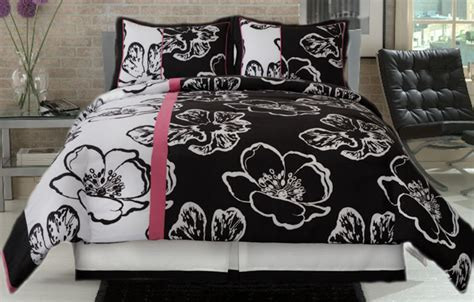 pink and black comforter set black and white 4 comforter set with pink