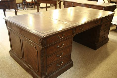 office desk leather top high end executive leather top desk mahogany desk