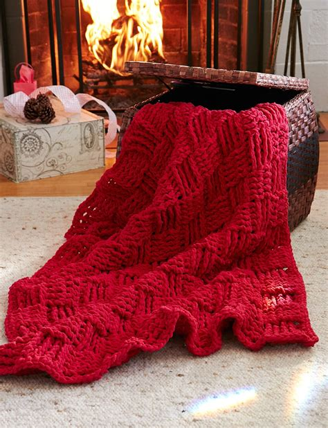 basketweave knit afghan pattern basketweave afghan in bernat blanket