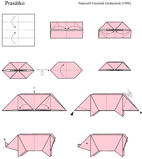 simple origami pig easy origami models especially for beginners and