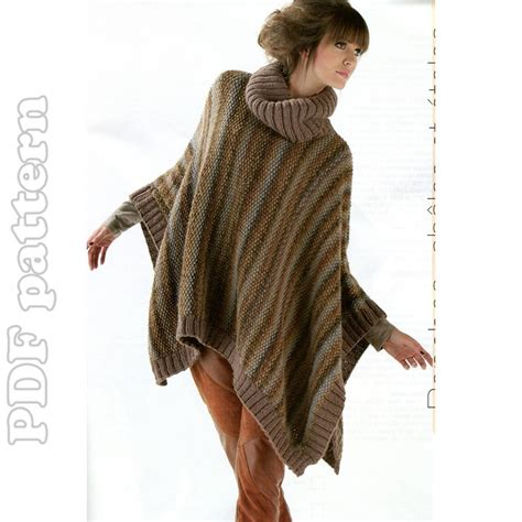 free knit poncho patterns pattern for child poncho free patterns