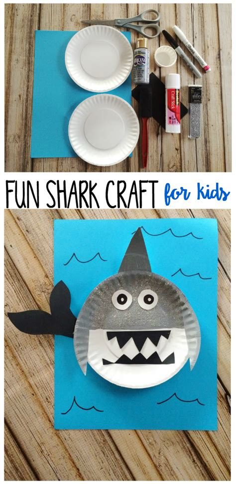 easy shark crafts for shark craft for six time and counting
