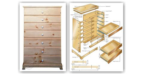 chest of drawers woodworking plans chest of drawers plans woodarchivist