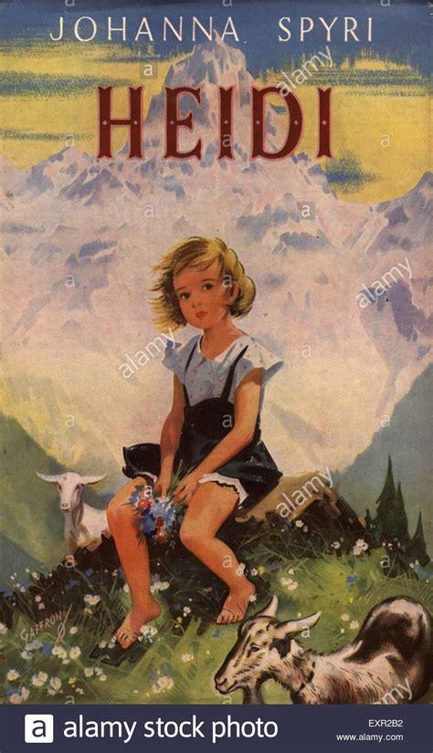 heidi picture book 1950s uk heidi by johanna spyri book cover stock photo