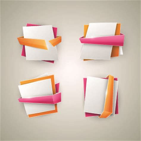 origami with ribbon free vector images ribbon banner free vector
