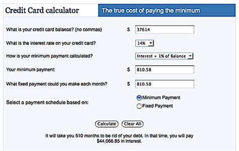 how to make payment of credit card payment calculator credit card interest