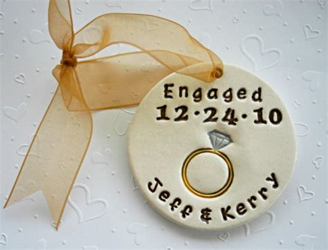 ornament for engagement personalized engagement ornaments for the soon by