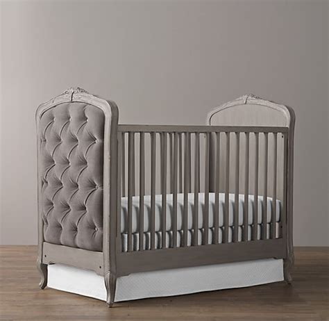 tufted baby crib colette tufted crib pewter grey