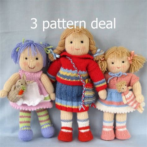 free knitted doll patterns 25 best ideas about knitted doll patterns on