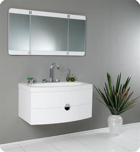 mirrors bathroom vanity 36 energia fvn5092pw white modern bathroom vanity w