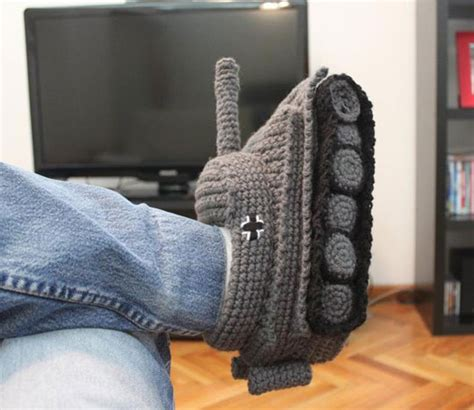 knitted tank slippers thanks for the slippers