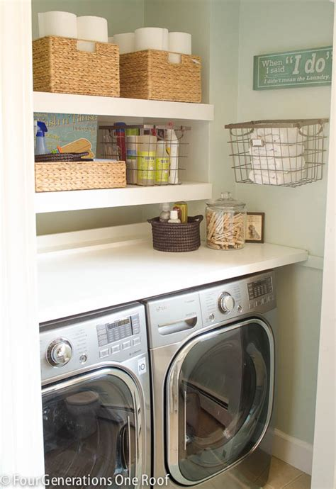 laundry room shelves and storage our budget laundry room reveal laundry closet four