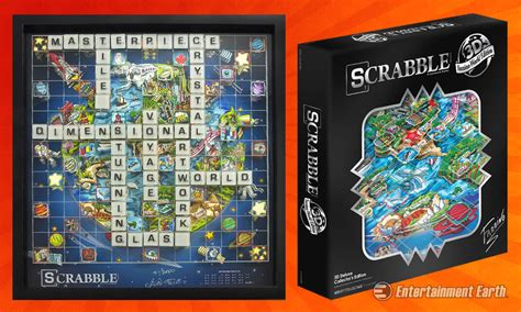 scrabble worldwide this charles fazzino 3d scrabble set is not your s