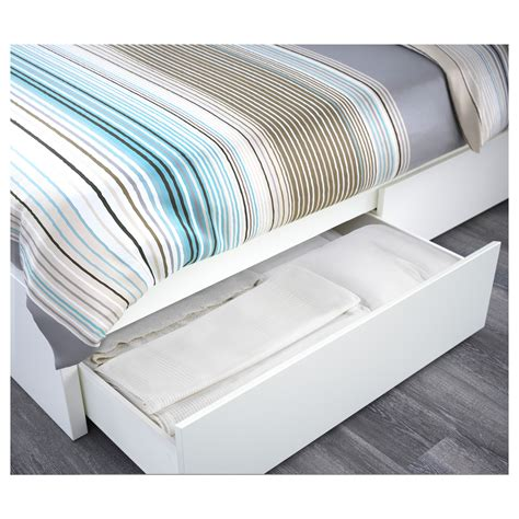 ikea bed malm malm bed frame with 4 storage boxes white lur 246 y standard