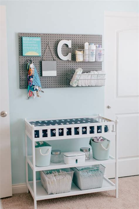 changing table storage ideas 35 yet practical nursery organization ideas digsdigs
