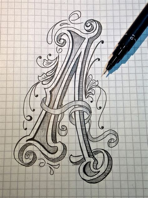 sketch letter a for alphabet absolutely no idea what