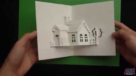 how to make av fold pop up card how to make a house pop up card origamic architecture