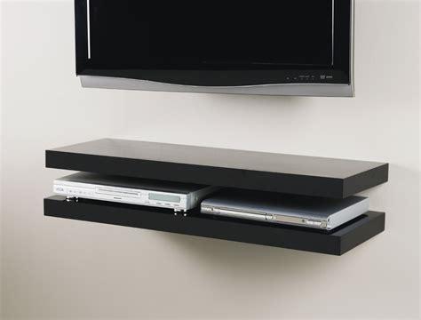 floating black shelves black media floating shelf kit 900x300x50mm mastershelf