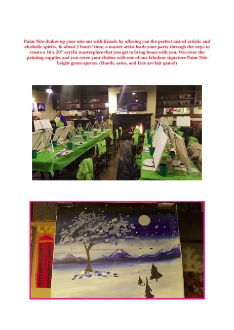 paint nite nyc promo code paint nite in yonkers restaurants authorstream