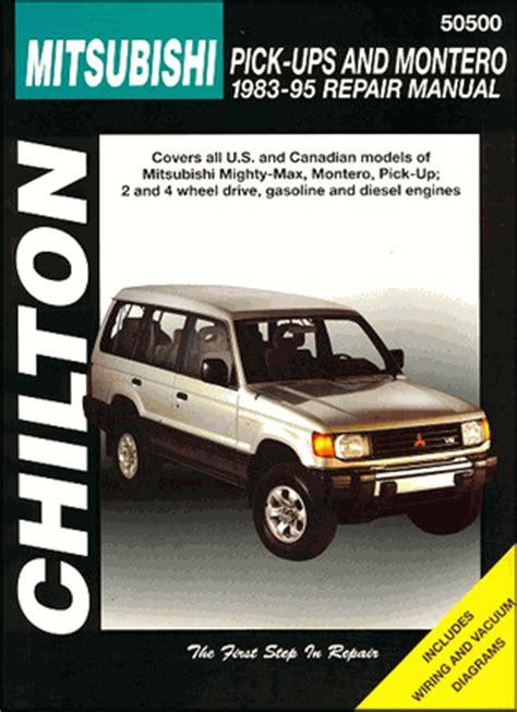 hayes auto repair manual 1995 mitsubishi montero spare parts catalogs mitsubishi mighty max montero repair manual 1983 1995 chilton
