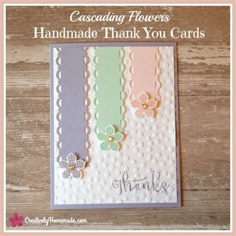 how to make a thank you card in word cascading flowers easy handmade thank you cards