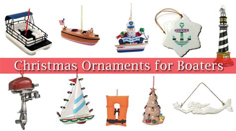 nautical ornaments boater boating and nautical tree