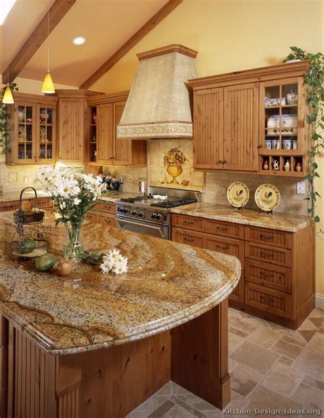 country kitchen countertop ideas your home a large country kitchen with knotty alder cabinets