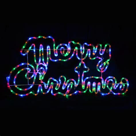 coloured rope lights multi coloured led rope light merry sign