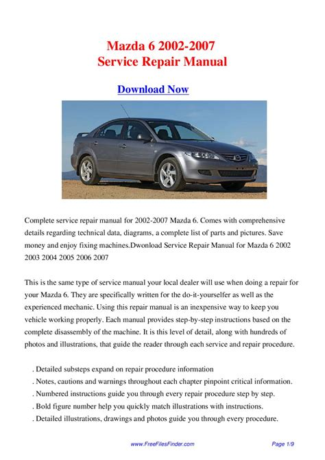 mazda 6 2002 2007 service repair manual by hong lii issuu