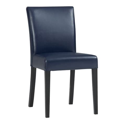 navy blue leather dining chairs