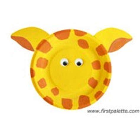 giraffe paper plate craft paper plate giraffe