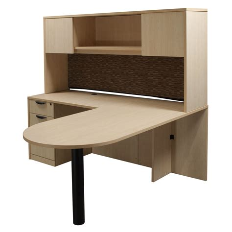 desk with return and hutch l shaped desk with hutch left return laminate left