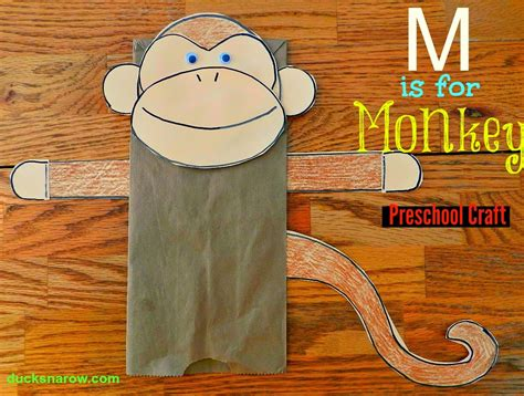 paper bag monkey craft ducks n a row make a paper bag monkey puppet with