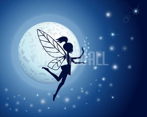 magic fairy in the night sky wall murals wall decals