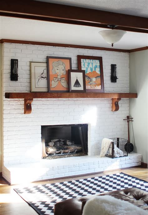 paint colors for living room with brick fireplace 25 painted brick fireplaces in the living room