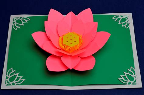 mothers day cards to make ks2 lotus flower pop up card template creative pop up cards