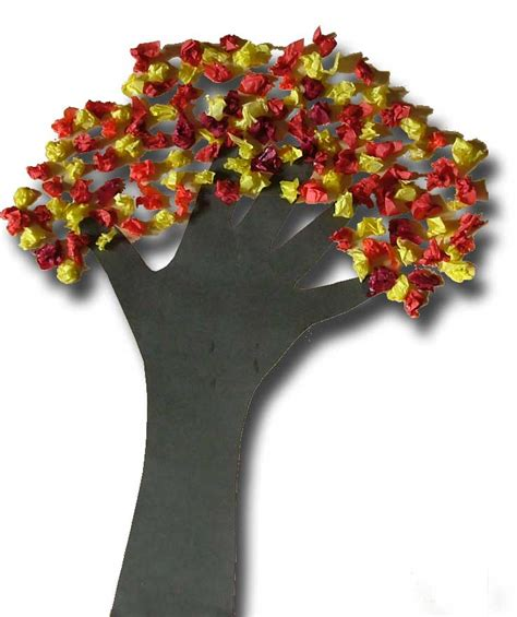 paper craft tree paper crafts for children 187 and scrunched tissue