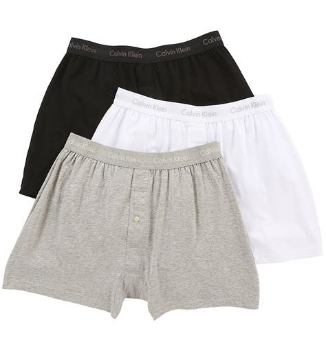 calvin klein knit boxers calvin klein nu3040 cotton classic knit boxer 3 pack ebay