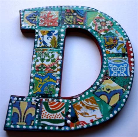 how to make decoupage letters medium decoupage wood letter d collaged letter 5 5