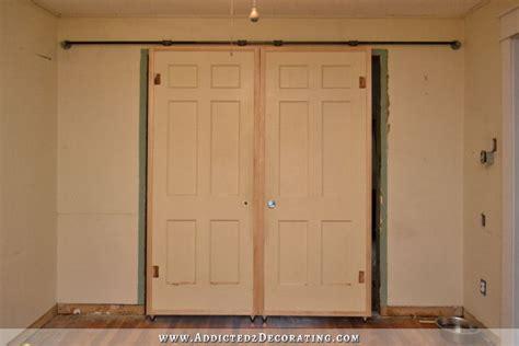 barn door style closet doors hometalk diy barn door style doors with a twist