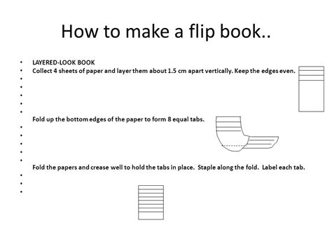 how to make a picture flip book this is a foldable use 4 sheets of paper it should look
