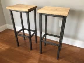 Custom Wood Bar Stools by Crafted Black Ash Wood Bar Stools W Steel Frame