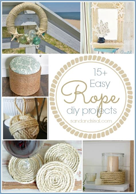 rope craft projects 15 easy rope crafts sand and sisal