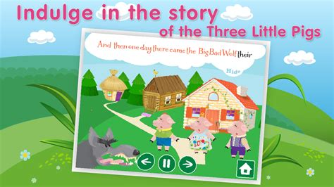 three pigs story book with pictures three pigs bad wolf android apps on play