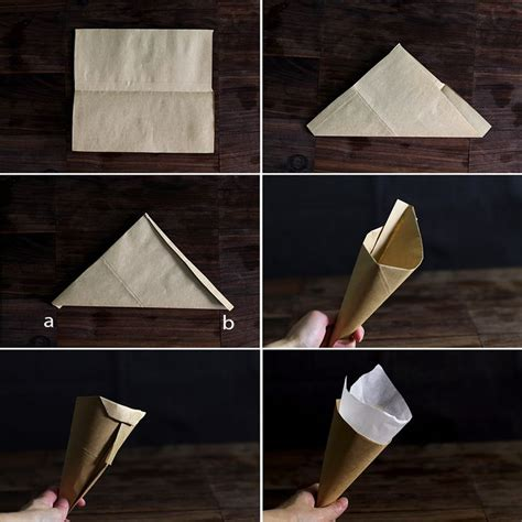 craft paper cones how to fold a brown paper cone crafts for church
