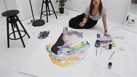 agnes cecile s rainbow watercolor art from 2014 2015