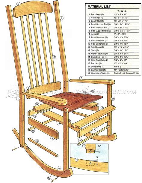 rocking woodworking plans craftsman rocking chair plans woodarchivist