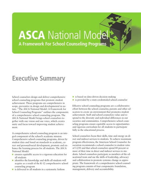 the asca national model a framework for school counseling programs 3rd edition asca national model a framework for school counseling
