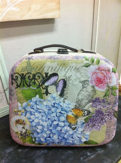 how to decoupage a suitcase 1000 images about suitcases trunks on