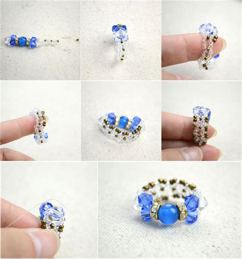 how to make a beaded ring diy bow rings for mothers day out of seed and glass